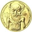 Čert a Mikuláš 25 mm zlato b.k.
