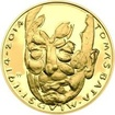 Nevydané mince Jiřího Harcuby - Tomáš Baťa mladší 34mm zlato Proof