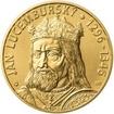 Jan Lucemburský - 720. výročí narození zlato b.k.