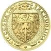 Nejkrásnější medailon IV. - Karlštejn 2 Oz zlato b.k.