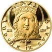 Ludvík IX. Francouzský - 800. výročí narození zlato proof