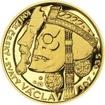 Relikvie sv. Václava - I. -  1/2 Oz zlato Proof