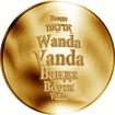 Česká jména - Vanda - zlatá medaile