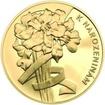 Vše nejlepší k narozeninám 25 mm zlato b.k.