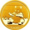Zlatá mince Panda 1 gram 2017