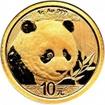 Zlatá mince Panda 1 gram 2018