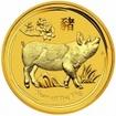 Zlatá mince Rok vepře, Lunární serie II. 1 oz 2019