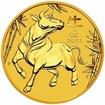 Zlatá mince Rok buvola, Lunární serie III. 1/4 oz 2021
