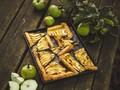 Recept na koláč z jablek s lískooříškovým máslem a čokoládou