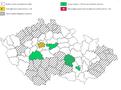 ilustrační mapa okresy koronavirus covid-19