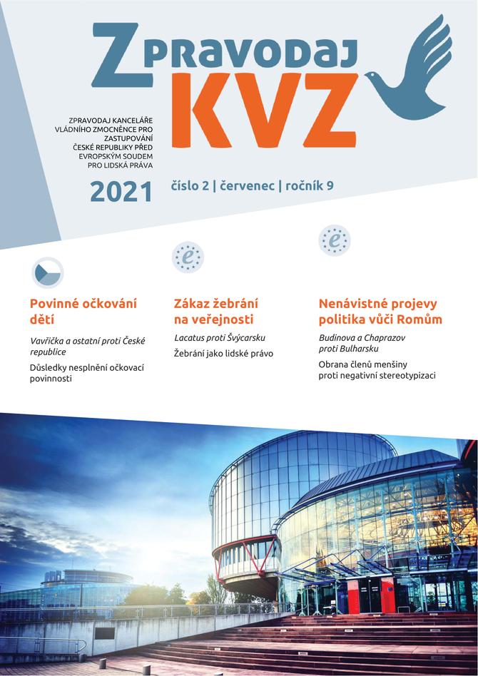 Titulní strana Zpravodaje KVZ 02 2021