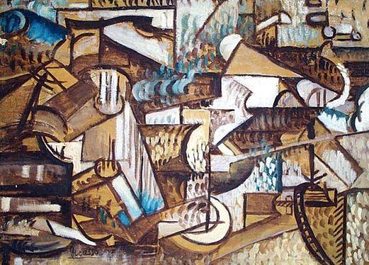 Ženy u piána, signováno Picasso