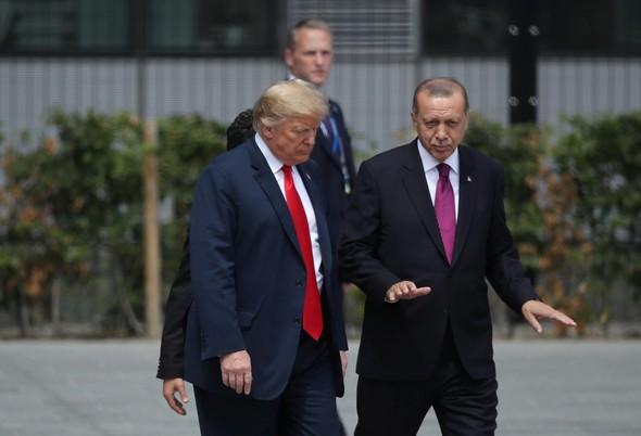 Prezidentové Trump a Erdogan