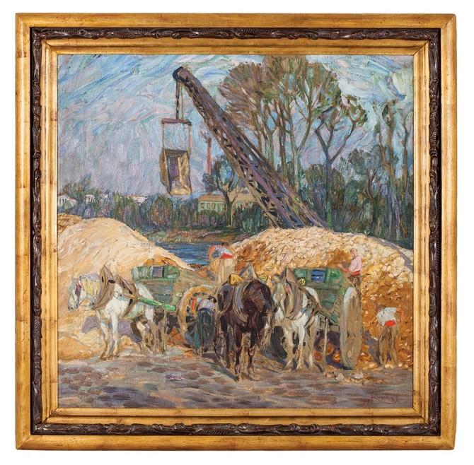 Pískaři na Seině, European Arts, František Kupka